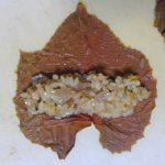 トルコの前菜料理「サルマ」をヤマブドウの葉で作ってみた