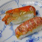初物アナジャコをシャア専用寿司にして食べてみた