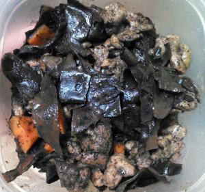 オオバモク,鶏肉,炒り煮