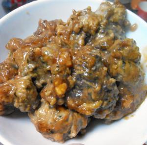 イソギンチャク,味噌煮