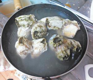 ミネフジツボ,料理,塩茹で