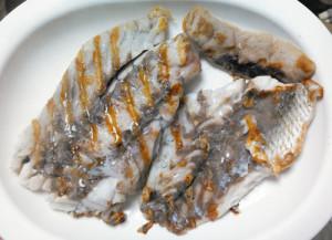 イシモチ,フウセイ,アメ横,料理,塩焼き