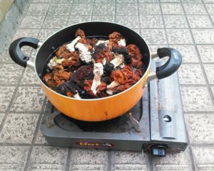 シャグマアミガサタケ,煮沸,屋外