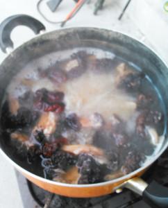 シャグマアミガサタケ,煮沸